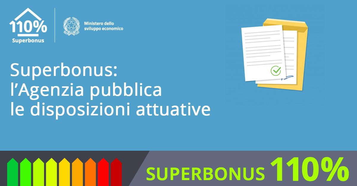 Via al Superbonus: l'Agenzia pubblica le disposizioni attuative